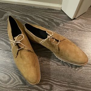 Hardy Brand Suede Casual Dress Shoe Lace-up NWOTs